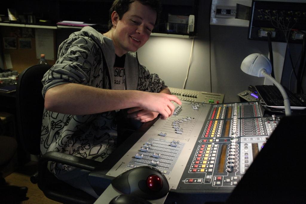 Mateusz Nowak przy pracy